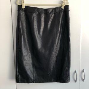 NOIR black coated skirt in EUC